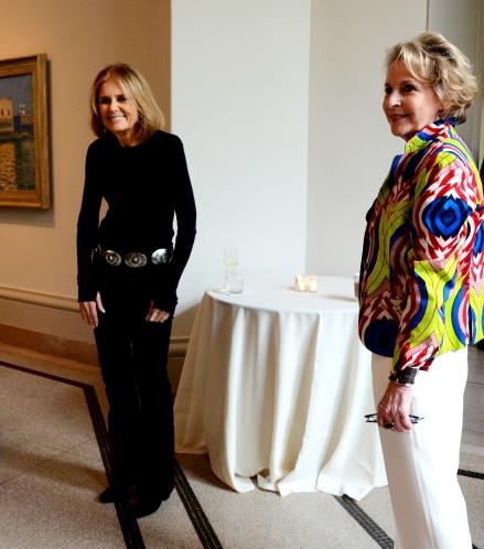 Gloria Steinem and Elizabeth Sackler at the Sackler Center First Awards honoring Angela Y. Davis