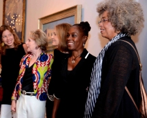 Angela Davis, first lady of New York, Charlene Mc Cray, Gloria Steniem, Elizabeth Sackler, and meets w/ guest and the media before the awards ceremony.