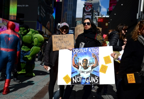 """Protect KIds Not Guns"" / ""Don't Shoot"" / March For Our Lives Rally, New York / ©2018 Diane Allford"